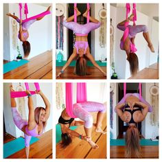 Aerial Yoga Goddess Tutorials, Some of the moves in the Aerial Challenge, Sign…