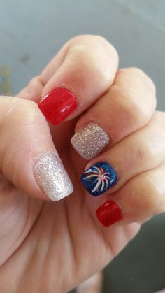 patriotic nails - Best of July Nail Art Designs - Nail Art Designs, July 4th Nails Designs, Firework Nails, Fireworks, Nail Art Sticker, Nail Stickers, American Nails, Holiday Nails, Halloween Nails