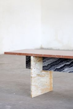 """""""A collaborative project becomes interesting to us as soon as we can see the possibility of reconciling our two kinds of activities. We have a huge number of projects underway. We don't have time to get bored"""" - HANNES VAN SEVEREN - (Marble Bench by eclectic duo Muller Van Severen: Fien Muller and Hannes Van Severen)"""