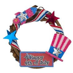 "Miniature ""Happy 4th of July"" Wreath"
