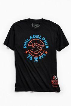 606a60108 Mitchell   Ness Philadelphia 76ers Tee. PhiladelphiaGraphic TeesMens  TopsUrban OutfittersHow To WearShirtsShoppingFashionModa