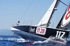 Gaetano Mura navigatore oceanico su bet1128. Il class40 con cui ha partecipato a importanti regate in Mediterraneo e in Oceano Atlantico