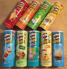 Potato Chips Flavors, Inc. Seasonal LTD, Japan Ver, Snacks/Candies Cute Food, Yummy Food, Tasty, Pringle Flavors, Sleepover Snacks, Snack Items, Potato Crisps, Junk Food Snacks, Instant Recipes