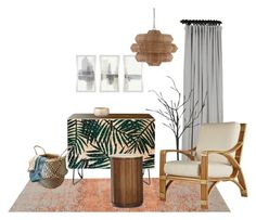 """""""Rattan Style"""" by eymilia on Polyvore featuring interior, interiors, interior design, home, home decor, interior decorating, DENY Designs, Selamat, Tommy Bahama and Lene Bjerre"""