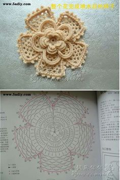 Watch The Video Splendid Crochet a Puff Flower Ideas. Phenomenal Crochet a Puff Flower Ideas. Crochet Puff Flower, Crochet Leaves, Knitted Flowers, Crochet Motifs, Crochet Flower Patterns, Crochet Diagram, Freeform Crochet, Crochet Chart, Thread Crochet