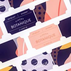 tickets #design #color #typography