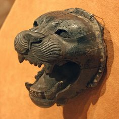 Head of a roaring lion  Period: Neo-Assyrian Date: ca. 9th–8th century B.C. Geography: Mesopotamia, Nimrud (ancient Kalhu)