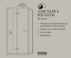 Infographic made for the Facebook page of our client Disenia, explaining how to clean the shower enclosure just with naturale products.  #design