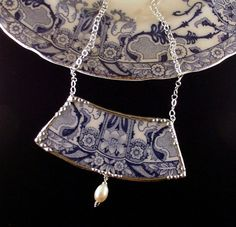 made from discarded dinnerware; these necklaces by Laura Beth Love are gorgeous.