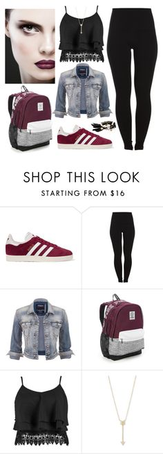 """""""Conjunto Nº153"""" by yesy-mica ❤ liked on Polyvore featuring adidas Originals, Pieces, maurices, Victoria's Secret, Boohoo, EF Collection and Chloe + Isabel"""