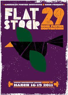Flatstock 29 Rock Poster Convention : Strawberry Luna
