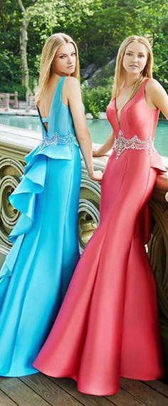 Alluring Satin V-neck Neckline Mermaid Prom Dresses With Beadings