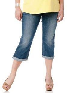 Motherhood Maternity: Plus Size Secret Fit Belly(r) Cropped Maternity Crop Jeans Motherhood Maternity. $44.98