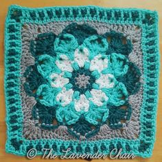 Free crochet pattern: Kaleidoscope Lily Mandala Square by The Lavender Chair