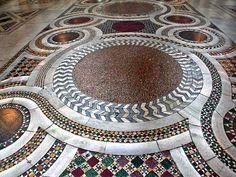 Basilica of Santa Maria Maggiore, Rome The Cosmatesque floor was laid in 1290. AMAZING !!!