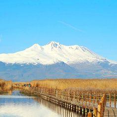 Kayseri  Erciyes Dağı'nın Sultan Sazlığı'ndan Görünümü  Fotoğrafı gönderen: Seval Erdem