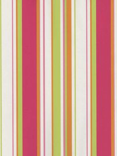 Everyone needs a stripe somewhere in their home. Save 10% on all striped wallpaper at AmericanBlinds.com with the code Stripes-10. #pink #orange #green