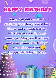 Funny Birthday Wishes and Quotes - Ideas at Namewishes Birthday Cake Write Name, Birthday Cake Writing, Birthday Wishes Funny, Happy Birthday Me, Live For Yourself, Birthdays, Told You So, Quotes, Ideas
