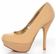 What to wear right now Nude heels lengthen your leg Just be sure to buy a pair that works with your skin tone lulus 1699 |2013 Fashion High Heels|