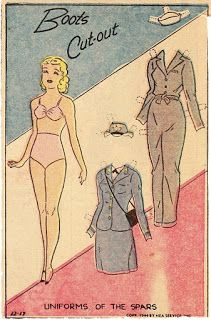 Miss Missy Paper Dolls: Boots but outs A uniform of Spars Boots paper doll from 1944.* 1500 free paper dolls at Arielle Gabriels International Paper Doll Society also free paper dolls at The China Adventures of Arielle Gabriel *