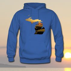 New Design - Michigan Sunset - Available at http://downwithdetroit.spreadshirt.com/michigan-sunset-I12816920