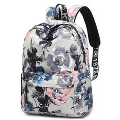 Fashion Women Chinese Style Bagpack Printing High Capacity School for Teenage Girls Knapsack Bookbag Trip Laptop Back Bag
