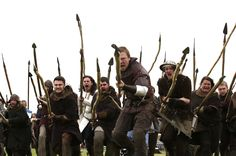 Actors who are part of King Robert The Bruce's army re-enact the Battle of Bannockburn, in Bannockburn, central Scotland June 27, 2014. Up to 20,000 people will gather over the weekend to commemorate the 700th anniversary of the Battle of Bannockburn.