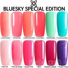 Bluesky SPECIAL EDITION 2018 RANGE UV LED Soak Off Gel Nail Polish 10ml