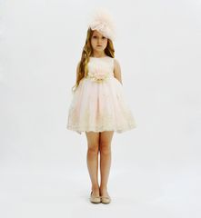 Платье для девочки от 1 до 5 лет с ободком GFL-15681P