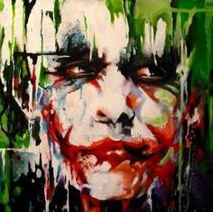 Painting of Heath Ledger as The Joker