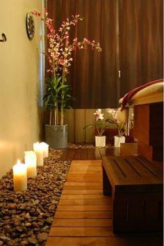 decoração para sala de descanso - spa