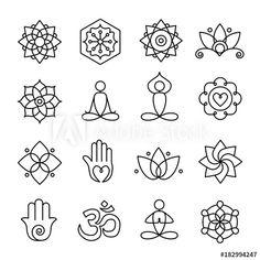 Buddhism Symbols, Meditation Symbols, Relaxation Meditation, Namaste Symbol, Namaste Tattoo, Ohm Symbol, Yoga Tattoos, Tatoos, Feminine Symbols