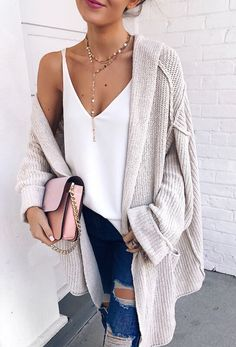 Oversized Thick Ribbed Cardigan