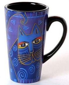 Pair laurel burch indigo blue cat tall latte mugs new rare cups Laurel Burch, Stars Disney, Latte Mugs, Coffee Mugs, First Grade Art, Disney Cats, Cat Mug, Blue Cats, Ceramic Cups