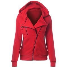 Yoins Red Casual Hoodie With Irregular Zipper ($23) ❤ liked on Polyvore featuring tops, hoodies, red, hooded sweatshirt, zip hooded sweatshirt, hooded zipper sweatshirts, zipper hoodie and zip top