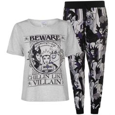Browse through our amazing range of ladies sleepwear that includes Character PJ Set Ladies - simply log on to our website to order yours! Casual School Outfits, Emo Outfits, Disney Outfits, Cute Outfits, Disney Clothes, Pajama Set, Pajama Pants, Pj Sets, Lady