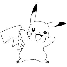 Pikachu Coloring Pages Free Printable coloring Moana Coloring Pages, Horse Coloring Pages, Cartoon Coloring Pages, Coloring Books, Pokemon Coloring Sheets, Pikachu Coloring Page, Pikachu Tattoo, Pikachu Pikachu, Cute Drawing Images