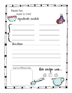 """perfect for teaching """"reading to follow directions/purpose"""" and sequence"""