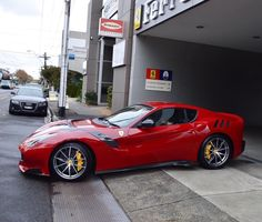 Ferrari F12 TDF painted in Rosso Corsa Photo taken by: @melbourneluxuryandsupercars on Instagram