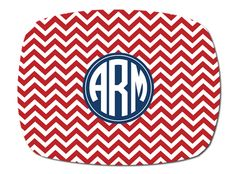 Monogram Nantucket Circle Melamine Platter! Serve those burgers and dogs in style!