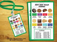 Girl Scout Cookie Chart by nicoleprints on Etsy