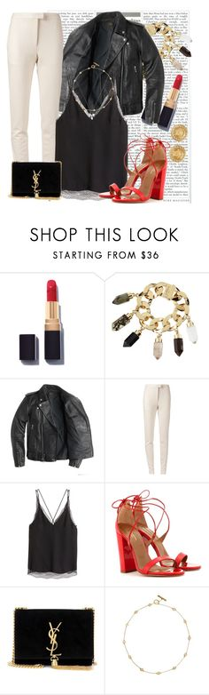 """""""Untitled #1451"""" by ekozlova ❤ liked on Polyvore featuring Chanel, Givenchy, J.Crew, Calvin Klein Collection, H&M, Aquazzura, Yves Saint Laurent, Tory Burch and Versace"""