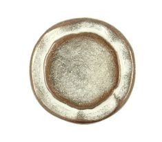 Double Circles Metal Buttons  Copper White Patina by Lyanwood, $6.00