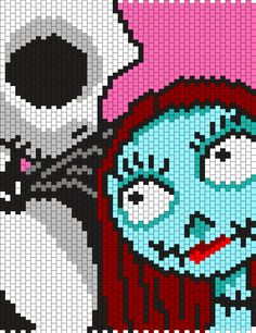 Jack And Sally Panel From Nightmare Before Christmas Bead Pattern