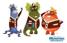 Monstres Academy - The Art of Disney Pixar Concept Art, Game Concept Art, Character Concept, Character Art, Monsters Inc Characters, Cartoon Monsters, Monsters Ink, Walt Disney, Disney Art