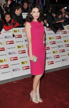 Kelly Brook in pink Christian Dior Dress