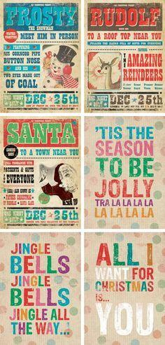 Vintage Christmas Art Prints by Paulo & Lulu
