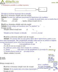 Ecuatii Irationale Exponentiale Logaritmice Calculus