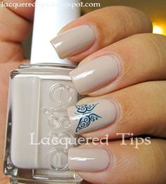 LACQUERED TIPS: Blue Butterfly!