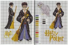 Harry Potter pattern book - French and out of print, but pages have been scaned to this site